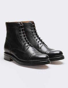 Grenson Jackson Captoe Derby Boot - Black