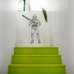 Wall Decals Vinyl Sticker Star Wars Storm Trooper Decal Wall Decor Home Interior Design Art Mural Boys Room Kids Bedroom Dorm Z761 WisdomDecalHouse http://www.amazon.com/dp/B00VCZGHCW/ref=cm_sw_r_pi_dp_XapJvb002ZDRJ