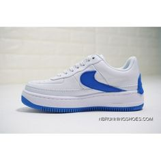 ddf1f5c4399aa6 Nike WMNS Air Force 1 Low Jester XX AO1220-104 Womens Skateboard Shoes  White Blue New Style