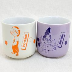 Hikaru no Go Japanese Tea Cup Yunomi 2pc Set Hikaru Shindo & Sai Fujiwara JAPAN