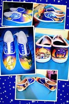 Aladdin shoes I drew with fabric markers