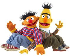 So Burt and Ernie were actually gay puppets after all! All of our suspicions were true! Hell no! Sesame Street Muppets, Sesame Street Characters, Cartoon Characters, Fictional Characters, Kermit, Les Muppets, Famous Pairs, Famous Duos, Bert & Ernie