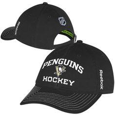 7c6c41520ad Reebok Pittsburgh Penguins Authentic Locker Room Slouch Adjustable Hat -  Black