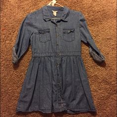 F21 chambray/denim dress Brand new F21 dress • girls size 13/14, I'm a size S/M and it's fits me fine • listed as Brandy for exposure • no trades Brandy Melville Dresses