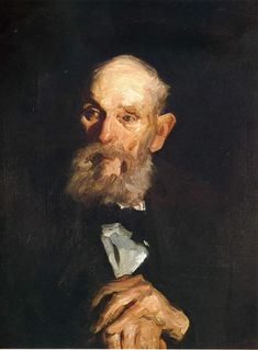 """George Bellows Portrait Of My Father. - George Wesley Bellows grew up in Columbus, Ohio, the son of a devout and solidly Republican building contractor, and a mother who hoped that her son would become a Methodist Bishop. He always felt deeply ambivalent about his father, noting at the time of his death that, """"He was a wonderfully fine man, yet being fifty-five when I appeared, his point of view, his character even, belonged to so remote a past that I look upon many of his ideas to this day…"""
