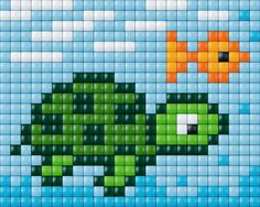 turtle and fish crochet graph Mini Cross Stitch, Cross Stitch Animals, Cross Stitch Charts, Cross Stitch Designs, Cross Stitch Patterns, Pixel Crochet, Crochet Chart, Perler Patterns, Quilt Patterns
