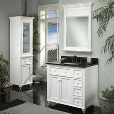 Traditional Bathroom Storage and Vanities