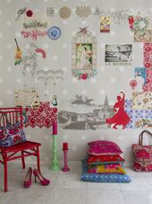 """""""Viva la fiesta"""" from Room 7 Travel Memories Collection at LAVTHEM. Paint And Paper Library, Happy Room, Little Greene, Travel Memories, Dream Rooms, Happy Kids, Kids Room, Room Decor, Holiday Decor"""
