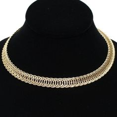 Just enough.  Understated Small Rings Gold Metal Choker Necklace Elegant Fashion Jewelry