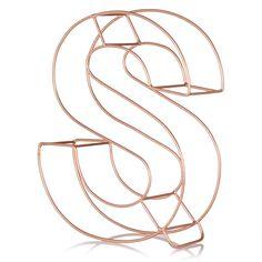 Copper Alphabet Letter  Oliver Bonas  Home Bits  Bobs