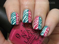Nails by Kayla Shevonne: Nails of the Day - Double Animal Print & Colour Blocking