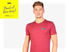 T-shirt a manica corta Guru 100% cotone. Disponibile anche in colore grigio, grigio chiaro e blu. http://titalola.click/32190
