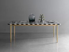 Herringbone Dining Table by Bethan Gray & Lapicida | http://www.yellowtrace.com.au/2014/02/06/maison-et-objet-2014-best-in-show/