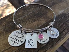Family Is What Matters Most Bangle Bracelet