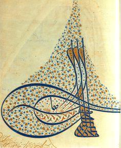 Ottoman decrees & Osmanlı Fermanlar, Tuğralar & Tugra From The Berat Of Murat III Islamic Art Calligraphy, Chinese Calligraphy, Religious Text, Animal Fashion, Arabesque, Ikebana, Prehistoric, Art Forms, Book Art