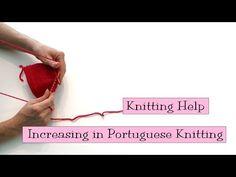 Increasing in Portuguese Knitting - v e r y p i n k . c o m - knitting patterns…