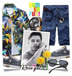 """""""Rosegal"""" by perfex ❤ liked on Polyvore featuring men's fashion, menswear and Summer"""