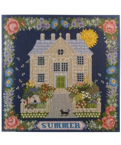 summer sampler needlepoint kit