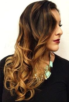 dark+brown+to+caramel+ombre