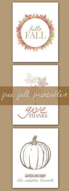 Autumn Printables | Free Fall Printables | Thanksgiving Printable | Pumpkin Printable