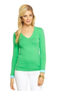 Adelaide V-Neck Sweater - Lilly Pulitzer