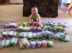 Alek's new stash of Plum yumminess! He is leaning towards it to grab a pouch :)