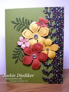 19 Paper Crafting Ideas to Inspire You! (Mary Fish, Stampin' Pretty The Art of Simple & Pretty Cards) Stampin Pretty, Stampin Up, Stamping Up Cards, Card Patterns, Pretty Cards, Scrapbooking, Paper Cards, Flower Cards, Greeting Cards Handmade
