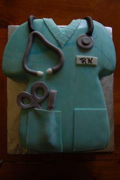 nursing school graduation cake! @Jenn L Jones @Amber Jones @Rachel Jones, start practicing now!