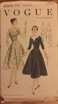 Extremely RARE VTG 8563 Vogue 1955 one piece by ThePatternParlor