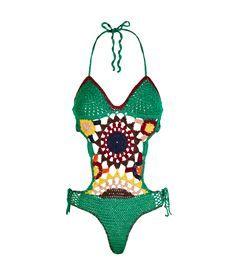 Visualizza il Multi-Coloured Crochet costume da bagno