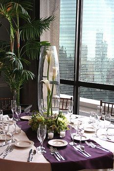 Wedding, Centerpiece, White, Purple - Photo by Vale Of Enna