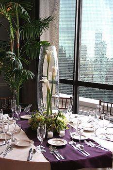 Wedding, Centerpiece, White, Purple - Photo by Vale Of Enna