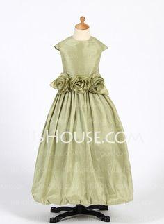 08c0abf217 A-Line Princess Floor-length Flower Girl Dress - Taffeta Sleeveless Scoop  Neck With Ruffles Flower(s)