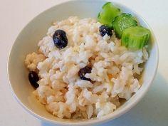押し麦と豆腐と黒豆の生姜入り混ぜごご飯♪