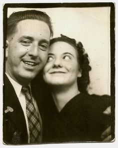 Photo booth c.1940s. I love these old photographs of regular people. I always wonder who they were, what kind of lives they had...