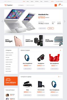 MegaDeal II - Ecommerce Joomla Template -- A multipurpose e-commerce Joomla 3 template with a slider and a modern design.  Clean and superbly flat design, packed with the most powerful & flexible Helix3 Framework which offers limitless possibilities and customization configuration options.