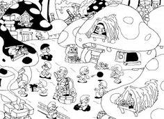 57 En Iyi şirinler Görüntüsü The Smurfs Coloring Pages Ve