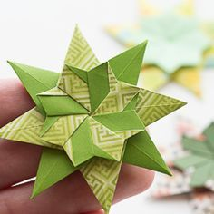 Diagram for a new origami star - find out how to make!
