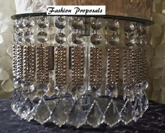 SALE Wedding Cake Stand with Crystals/ by FashionProposals on Etsy
