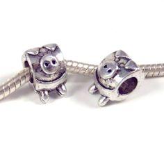 1 pc Pig Piggie Animal Farm Zinc Alloy Antique Silver Tone European Style Beads Spacer Charms for Bracelet Necklace Lot European Fashion, European Style, Etsy Crafts, Bracelet Sizes, Farm Animals, Antique Silver, Charmed, Beads, Antiques