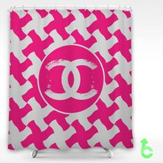 Cheap Chanel Pink Abstract Pattern Shower Curtain