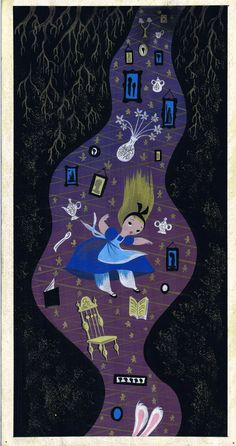mary blair alice in wonderland concept art | 1951 BLAIR ALICE IN WONDERLAND CONCEPT ORIGINAL ART!