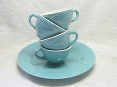 4  Mid Century Aqua Turquoise Shanago by slatternhouse5 on Etsy,