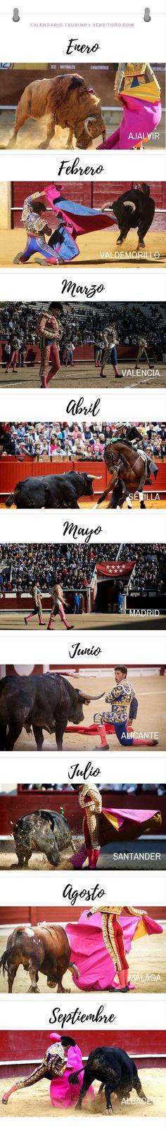 Calendario Taurino, Bullfighting Calendar. Program of bullfighting shows here!