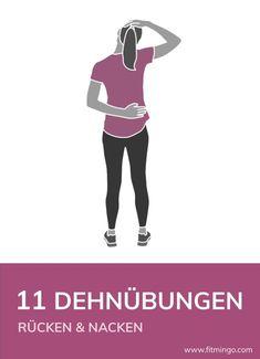 11 ejercicios de estiramiento para espalda y cuello - ¿Tiene la espalda y el cuello apretados nuevamente? El estiramiento regular y el estiramiento puede - Pilates Workout Routine, Pilates Abs, Yoga Routine, Pilates Challenge, Pilates Reformer, Exercise Routines, Exercise Motivation, Workout Challange, Plank Workout