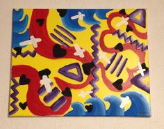 His waves of love go on by vazzypaints on Etsy
