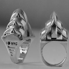 Chrysler Building Ring $450 #jewelry