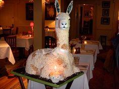 Llama cake from @llamapolkspot's twitter feed. Love.
