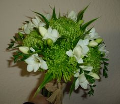 I like this one. Green Bouquet