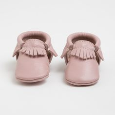 I bought these for Miss A and can't wait for her to grow into them. Then order some more ;) Blush - Limited Edition Leather Moccasins for Kids - finally a shoe that's cute, practical & stays on their feet!